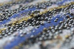 Teste padrão mergulhado da areia do borrão Fundo de mármore do estilo Textura defocused do pó do azul e do ouro fotos de stock