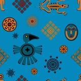 Teste padrão mexicano antigo do estilo Fotografia de Stock