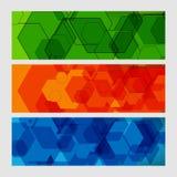 Teste padrão moderno abstrato ajustado de circuitos dos hexágonos ilustração royalty free