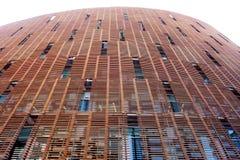 Teste padrão moderno da parede do edifício Imagem de Stock Royalty Free