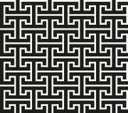 Teste padrão moderno do meandro asiático original do intricado ilustração stock