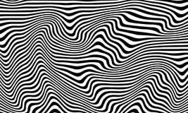 Teste padrão monocromático abstrato curvado listrado ilustração royalty free