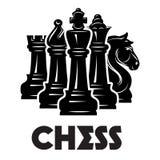 Teste padrão monocromático do vetor no tema da xadrez com xadrez e checkmate ilustração stock