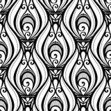 Teste padrão monocromático sem emenda do damasco do vetor Imagem de Stock Royalty Free