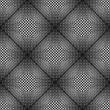 Teste padrão monocromático sem emenda do diamante do projeto Imagem de Stock Royalty Free