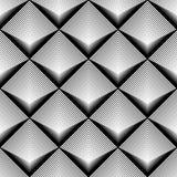 Teste padrão monocromático sem emenda do diamante do projeto Fotos de Stock Royalty Free
