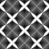 Teste padrão monocromático sem emenda do diamante do projeto Imagens de Stock