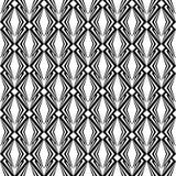 Teste padrão monocromático sem emenda do diamante do projeto. T geométrico abstrato ilustração do vetor