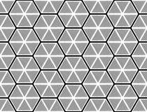 Teste padrão monocromático sem emenda do hexágono do projeto Fotos de Stock