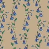 Teste padrão morno floral da areia da campânula da campainha ilustração do vetor