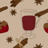Teste padrão Mulled do vinho Ilustração Royalty Free