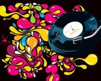 Teste padrão multi-coloured brilhante com uma placa ilustração royalty free