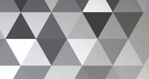 Teste padrão multicolorido geométrico cinzento e branco do preto do sumário dos triângulos com sem emenda, ilustração royalty free