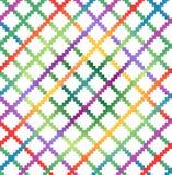 Teste padrão multicolorido quadriculado decorativo ilustração royalty free