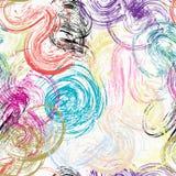 Teste padrão multicolred sem emenda do fundo dos cursos da pintura, vetor ilustração royalty free