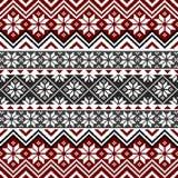 Teste padrão nórdico do floco de neve Imagem de Stock Royalty Free