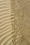 Teste padrão na areia Foto de Stock Royalty Free
