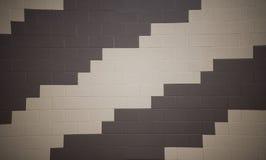 Teste padrão na parede de tijolo fotografia de stock