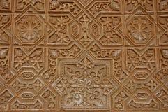 Teste padrão na parede do palácio de Alhambra Foto de Stock