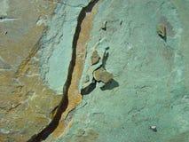 Teste padrão na rocha Foto de Stock Royalty Free