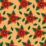 Teste padrão natural da decoração das folhas da flor floral Imagens de Stock