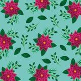Teste padrão natural da decoração das folhas da flor floral Imagens de Stock Royalty Free