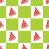 Teste padrão natural sem emenda da cor da melancia Imagens de Stock Royalty Free