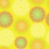 Teste padrão no amarelo abstrato ilustração do vetor