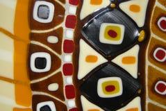 Teste padrão no bolo extravagante Imagem de Stock