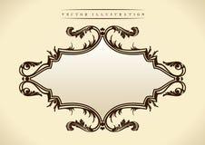 Teste padrão no estilo barroco. Frame do vintage Imagens de Stock Royalty Free