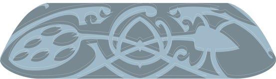 Teste padrão no estilo popular Ilustração Royalty Free