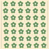 Teste padrão no estilo popular com ornamento das flores Fotos de Stock