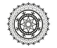 Teste padrão no formulário da mandala para a hena ilustração do vetor