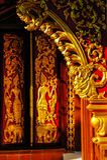 Teste padrão no templo Imagens de Stock Royalty Free