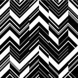 Teste padrão no ziguezague - preto e branco Fotos de Stock