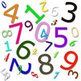 Teste padrão numérico Imagens de Stock Royalty Free