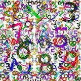 Teste padrão numérico Imagem de Stock