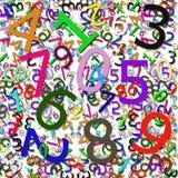 Teste padrão numérico Imagem de Stock Royalty Free