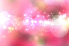 Teste padrão obscuro das luzes na cor-de-rosa Imagem de Stock