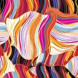 Teste padrão ondulado abstrato brilhante sem emenda Fotos de Stock