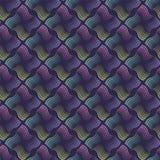 Teste padrão ondulado sem emenda das listras com fundo escuro Vetor que repete a textura com linhas onduladas Imagens de Stock