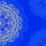 Teste padrão orgânico redondo decorativo, fundo do círculo com muitos detalhes ilustração do vetor