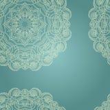 Teste padrão oriental azul Fotografia de Stock