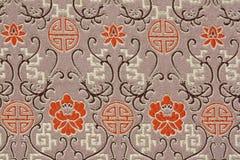 Teste padrão oriental da tela de seda Imagens de Stock