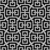 Teste padrão oriental de prata da suástica Imagens de Stock Royalty Free
