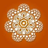 Teste padrão oriental do vetor com arabesque e elementos florais Ornamento tradicional Vetor Imagens de Stock Royalty Free