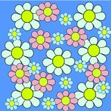 Teste padrão original da camomila da cor ilustração stock