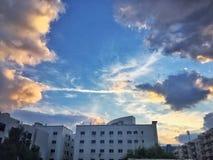 Teste padrão original da nuvem Fotografia de Stock