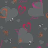 Teste padrão original dos corações dos Valentim Fotografia de Stock