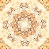 Teste padrão ornamentado do vetor do vintage no estilo do mehndi Fotografia de Stock Royalty Free